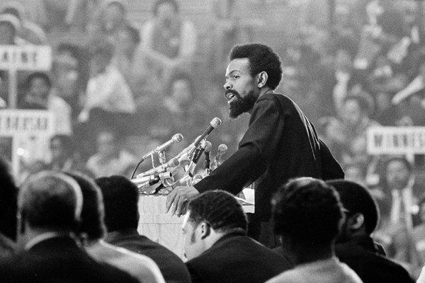 Amiri Baraka at the National Black Political Convention, 1972. Gary Settle/ The New York Times .