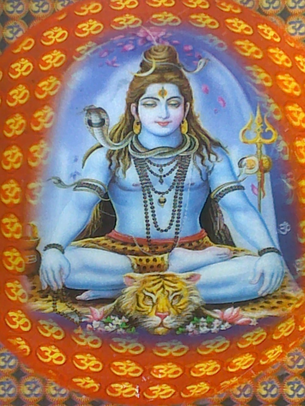Picture of Lord Shiva in deep meditation.