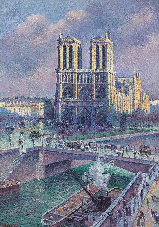 Notre-Dame de Paris  (1900) by Maximillien Luce