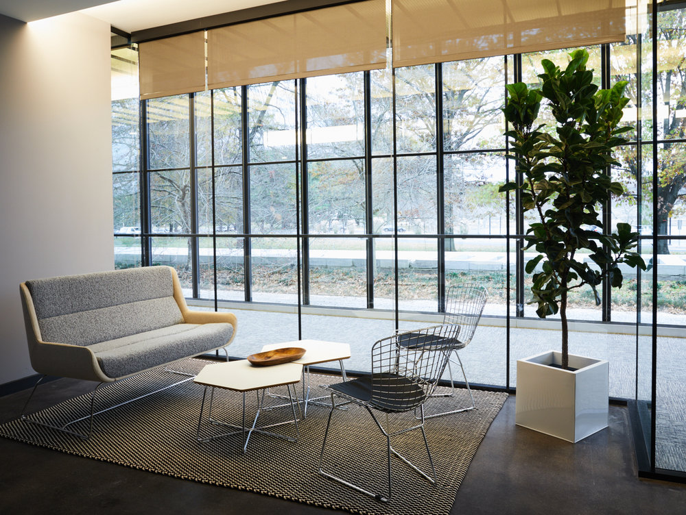 Modern open concept office at Bellworks designed by New Jersey based interior design studio Ursino Interiors