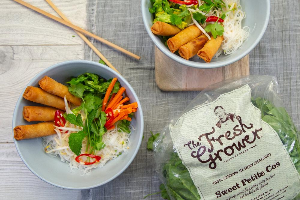 Vietnamese spring roll vermicelli salad