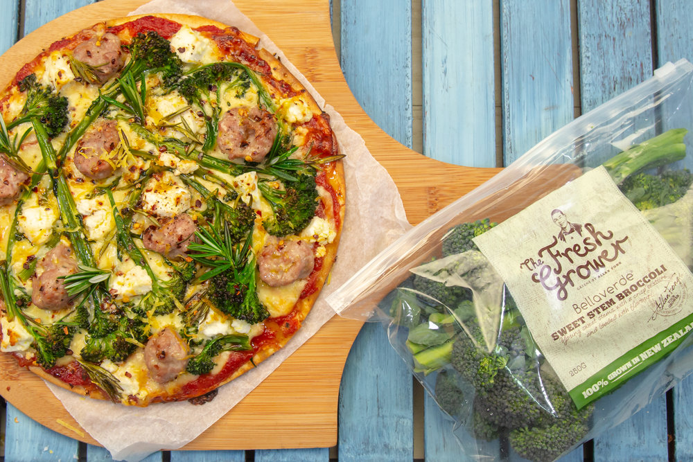 Broccoli & Pork Sausage Gluten Free Pizza