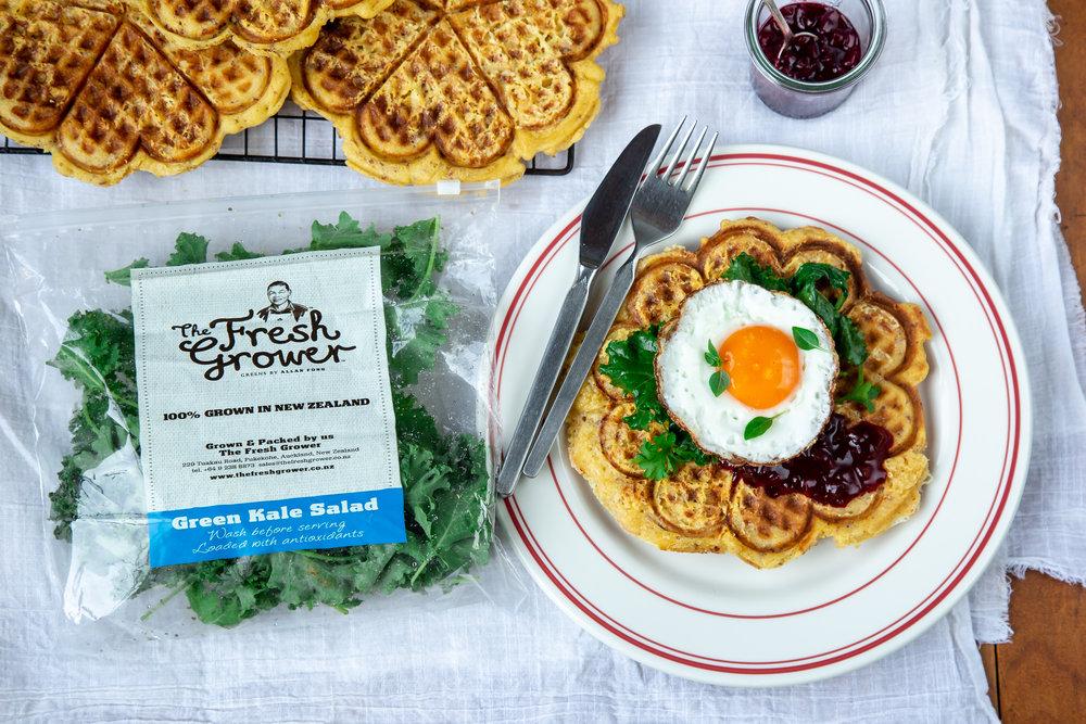Chorizo & Cheddar Breakfast Waffles, The Fresh Grower.jpg