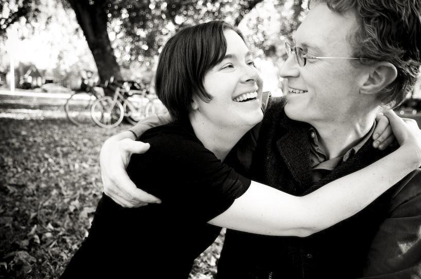 Tammy Strobel & Logan Smith, Fall 2009; portrait by Russ Roca