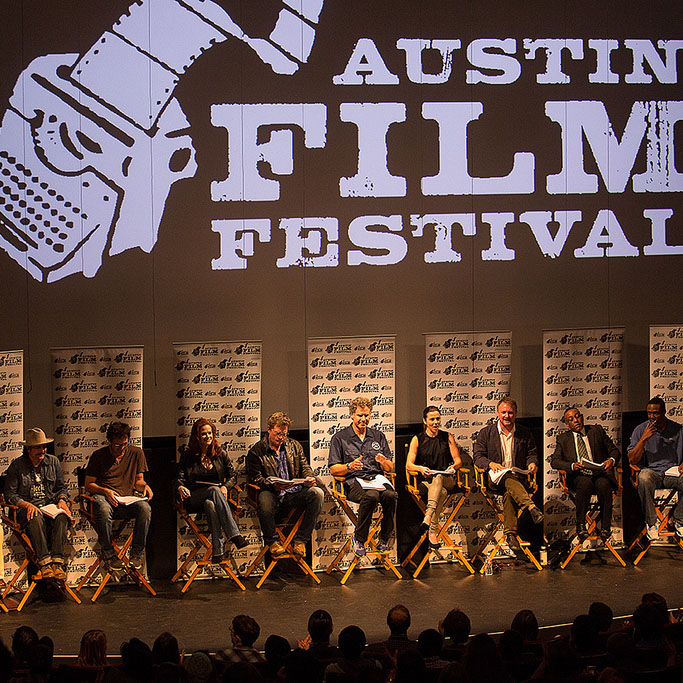 Jenny Speaksat the Austin Film Festival -