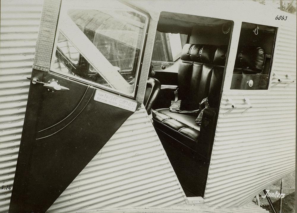 Junkers F 13 - Businessausstattung  Quelle: ETH-Bibliothek Zürich Copyright Hinweis: Bildarchiv/Stiftung Luftbild Schweiz