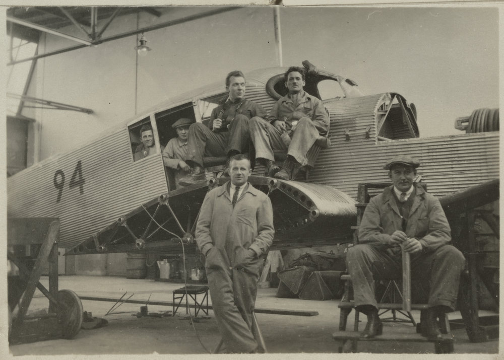 Junkers F 13 - Wartungspersonal  Quelle: ETH-Bibliothek Zürich Copyright Hinweis: Bildarchiv/Stiftung Luftbild Schweiz