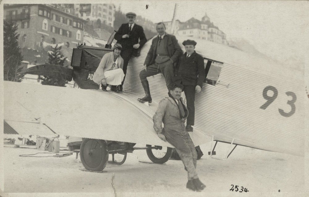 Junkers F 13 - Visit in St. Moritz  Source: ETH-Bibliothek Zuerich Copyright notice: Bildarchiv/Stiftung Luftbild Schweiz