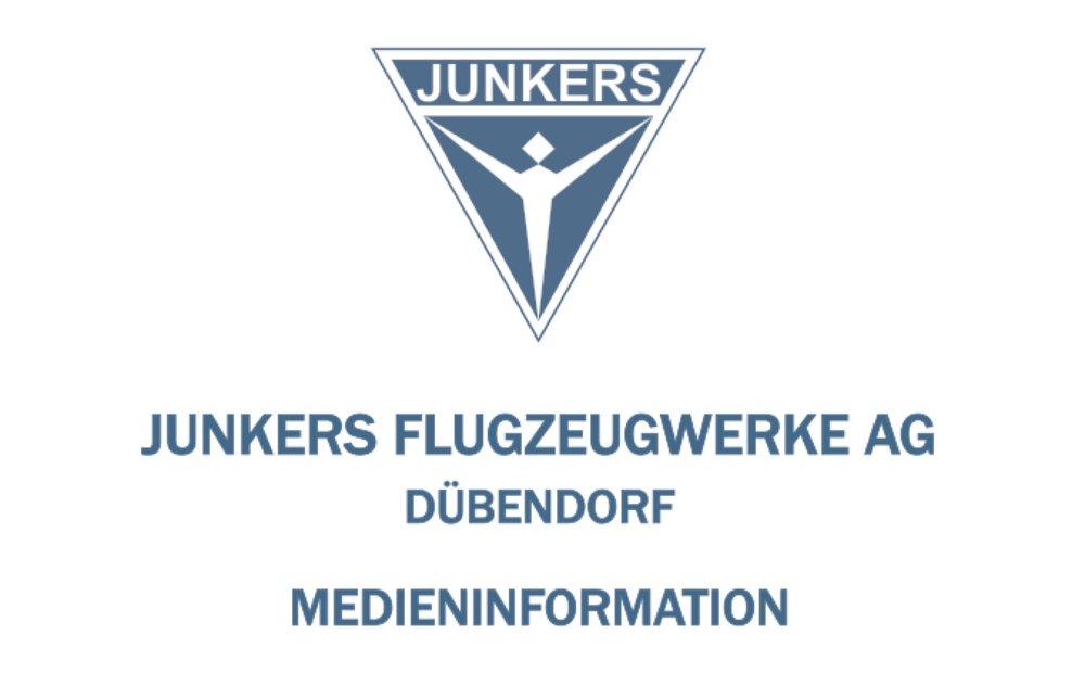 Medienmitteilung 18. April 2018  Die JUNKERS Flugzeugwerke sind wieder da