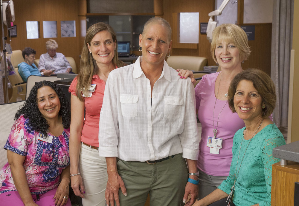 Cancer Survivor With her Nurses - Women & Infants Hospital