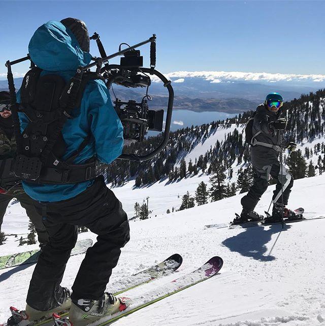 ROAM robotics shoot #shotonred #tahoe #easyrig #ski