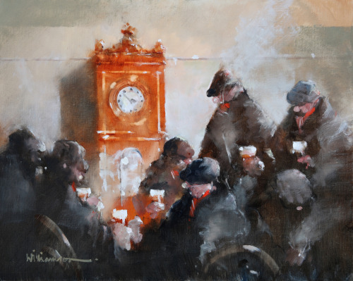'Clockwatch'    Original Oil on Canvas,  Also Available as a Limited Edition Giclee Print on Fine Art Paper