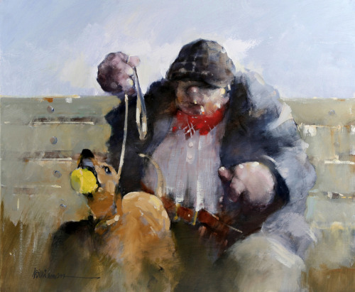 'Friend's Dog'    Original Oil on Canvas,  Also Available as a Limited Edition Giclee Print on Both Fine Art Paper & Canvas