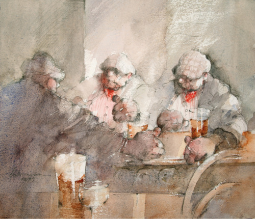 'Two Glasses'    Original Watercolour Work,  Also Available as a Limited Edition Giclee Print on Fine Art Paper