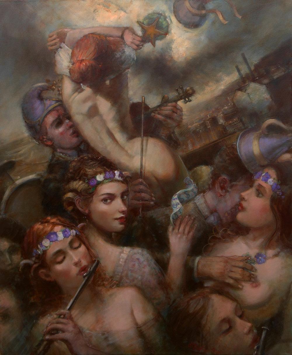 'Bankster's Brides'    Original Oil on Canvas