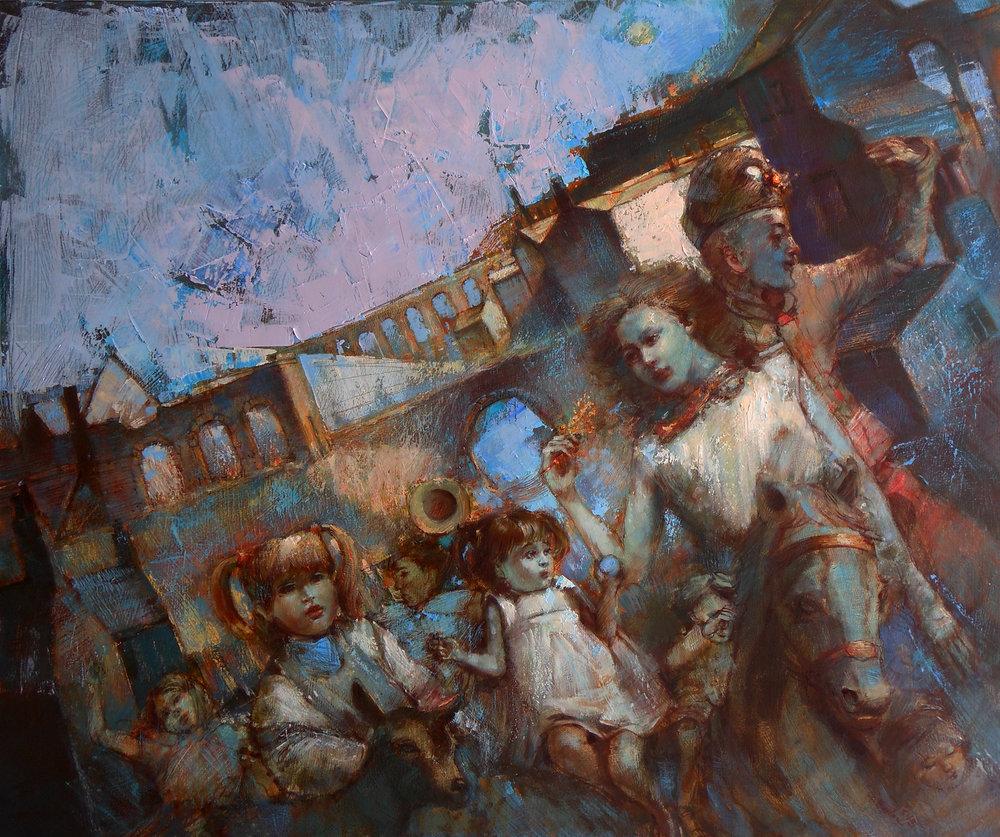 'Flight'    Original Oil on Canvas