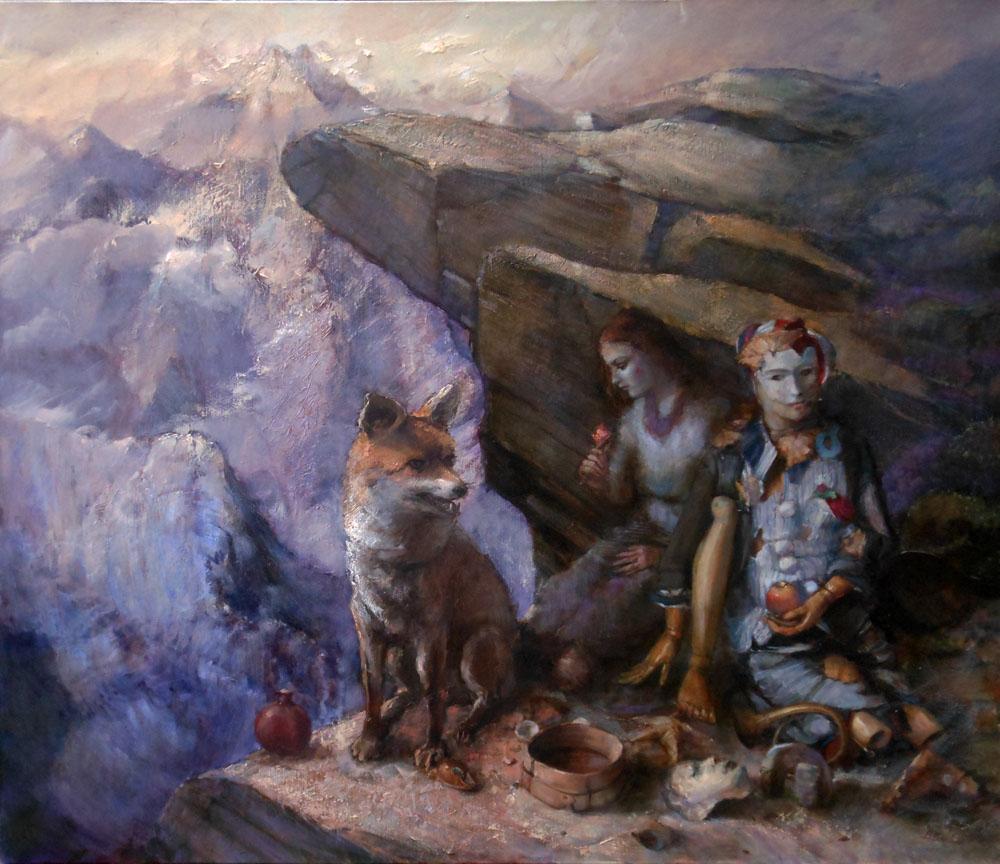 'Fox'    Original Oil on Canvas