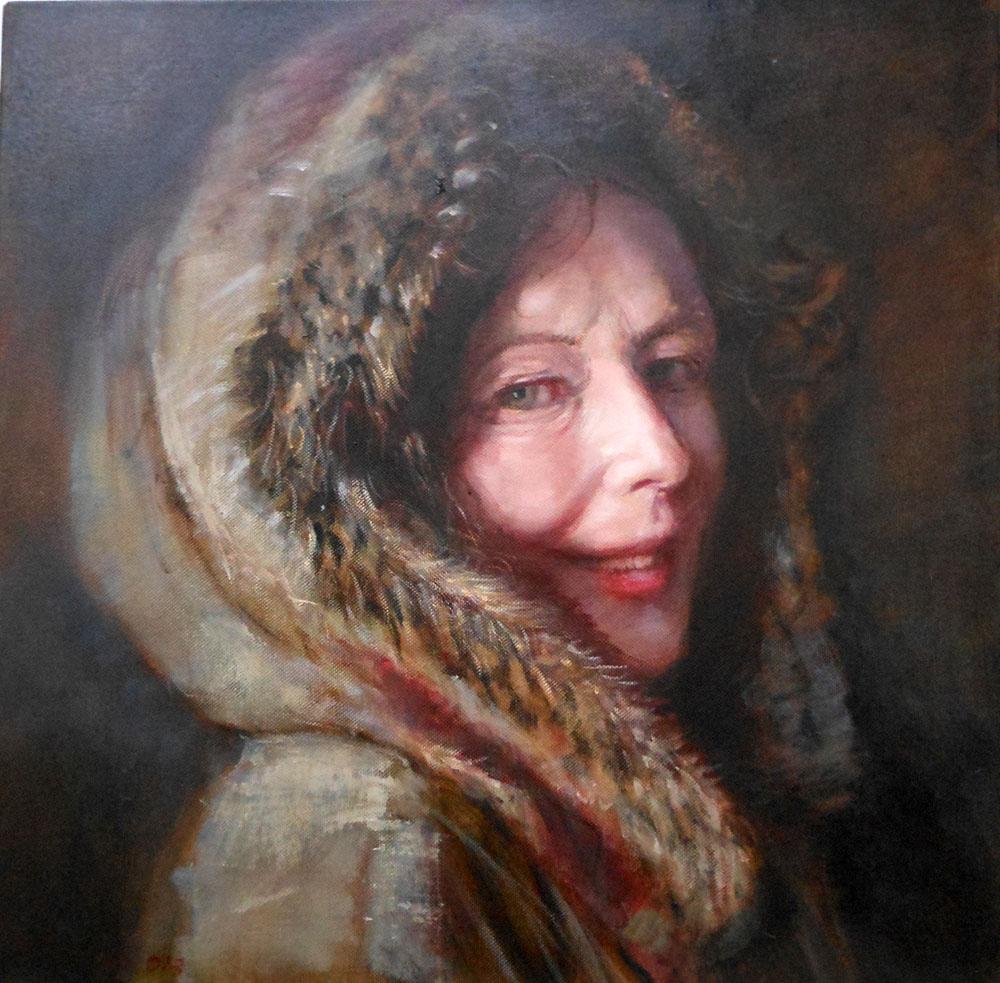 'Fur Coat'    Original Oil on Canvas