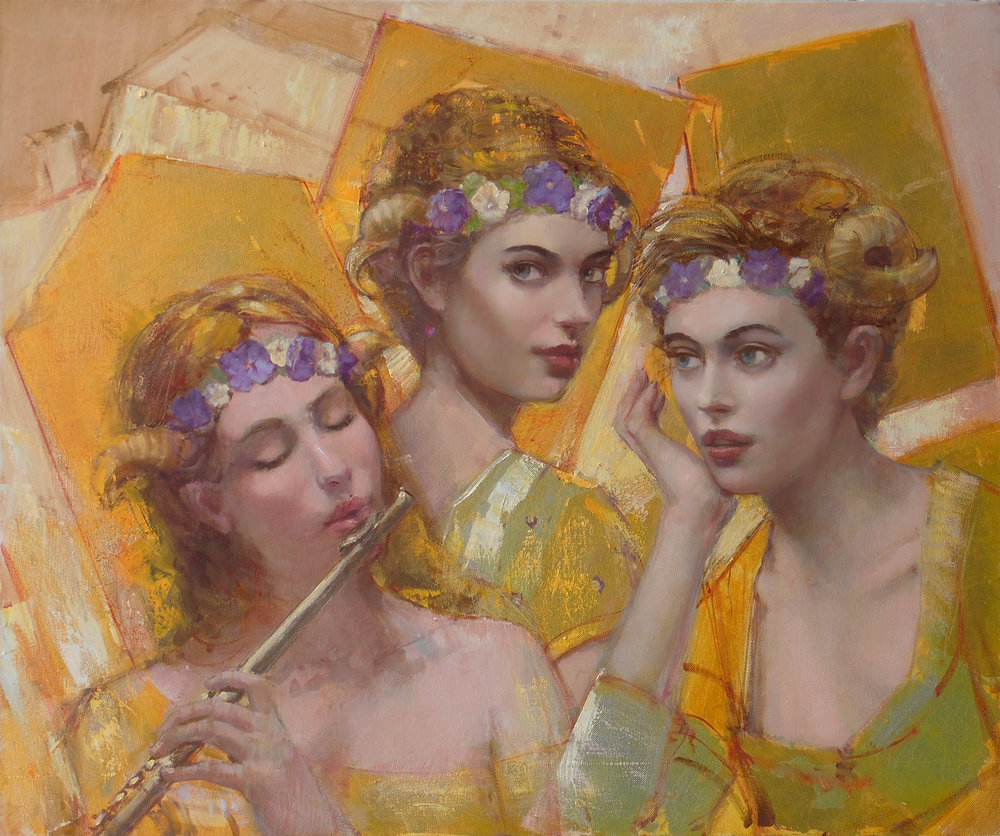 'Golden Chords'  Original Oil on Canvas