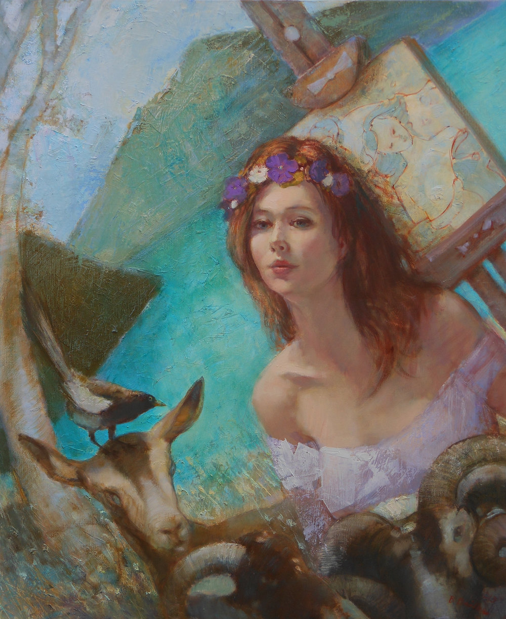 'Lady of the Lake'    Original Oil on Canvas