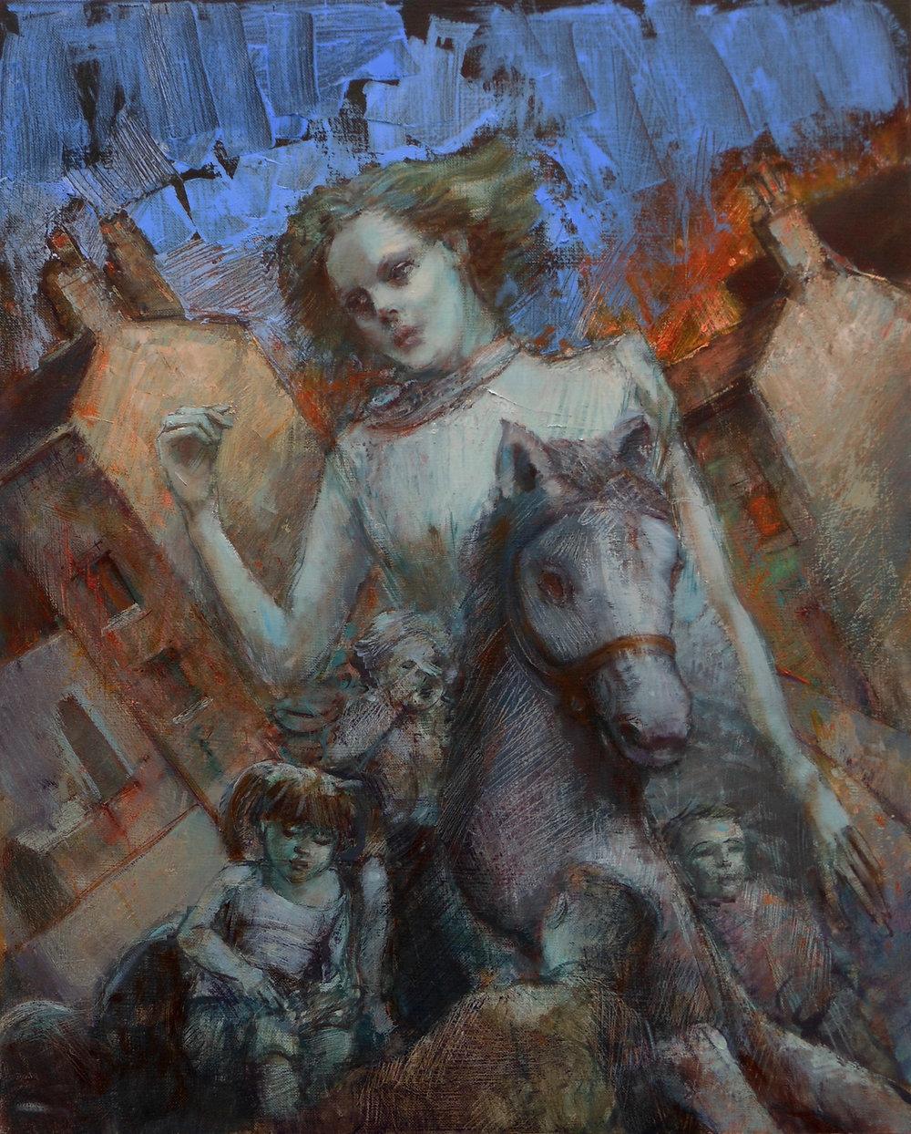 'Migrants'    Original Oil on Canvas