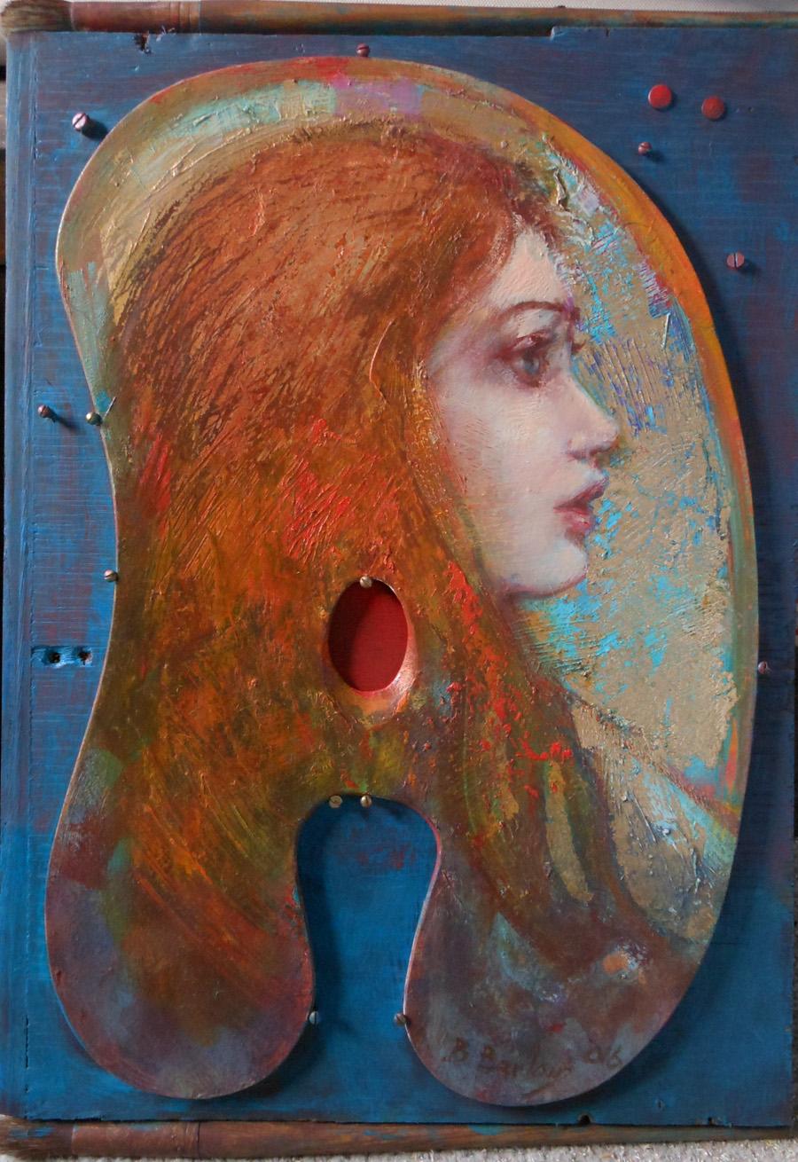 'Venus Rising'    Original Oil on Board with Mixed Media