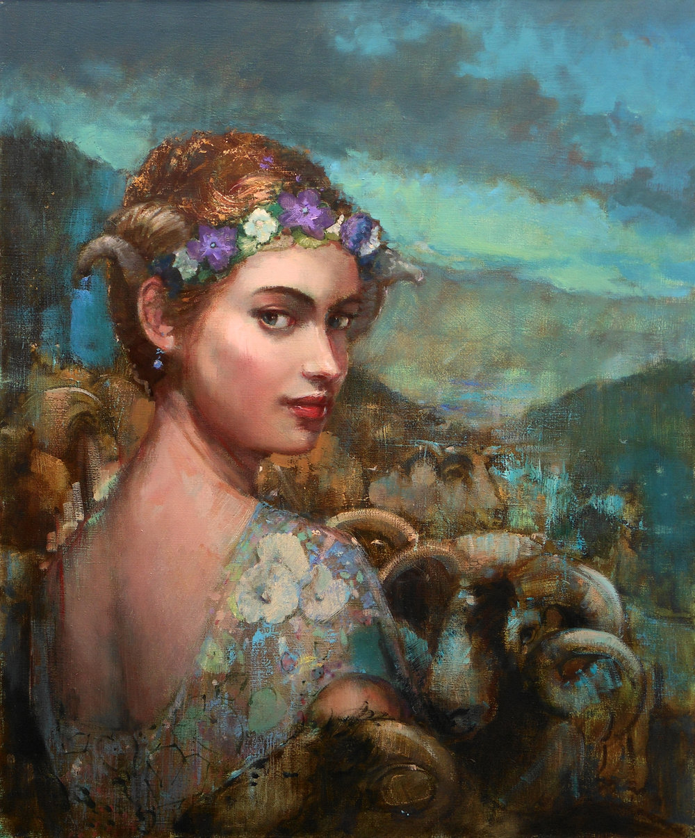 'Vale of Virdian'    Original Oil on Canvas