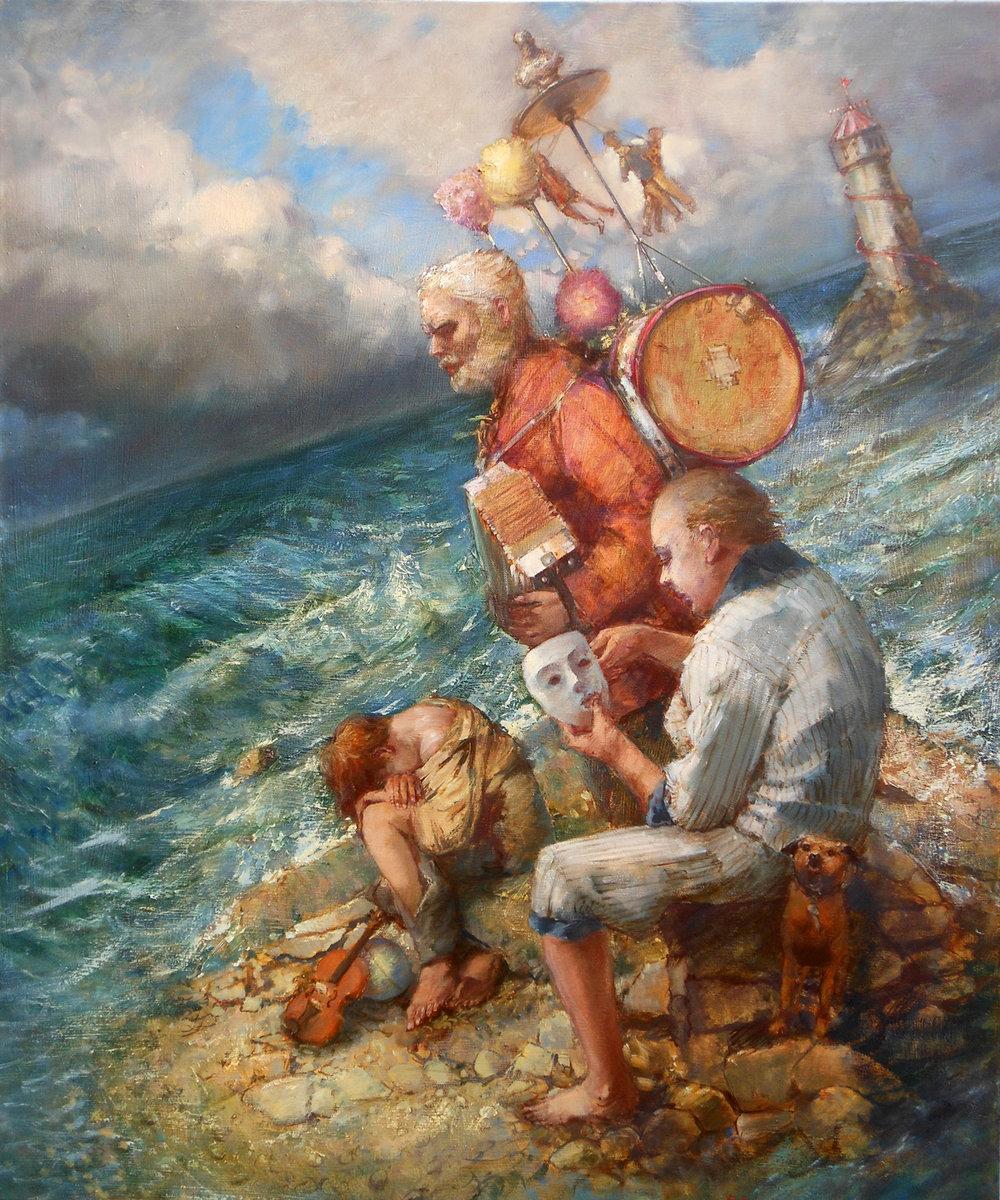 'We Three'    Original Oil on Canvas