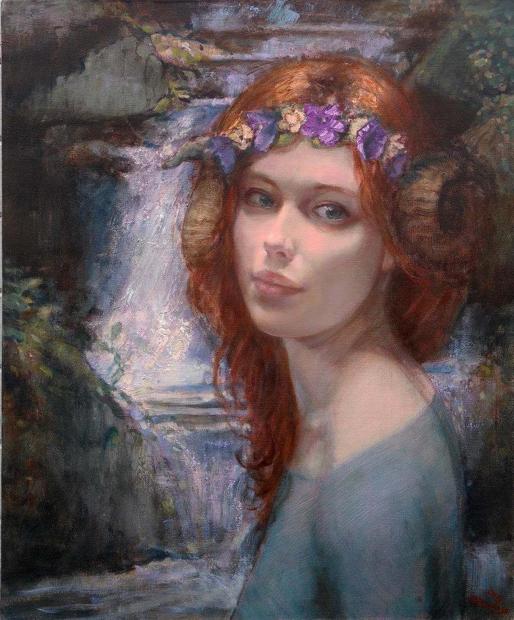 'Water Sprite'    Original Oil on Canvas
