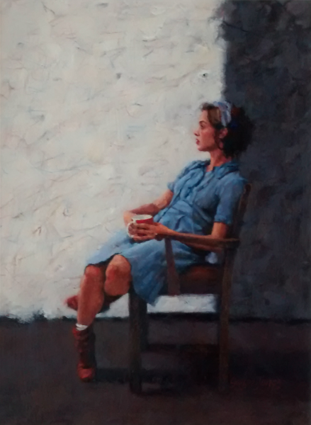 "'Contemplation'    Oil On Board, 14"" x 10"""