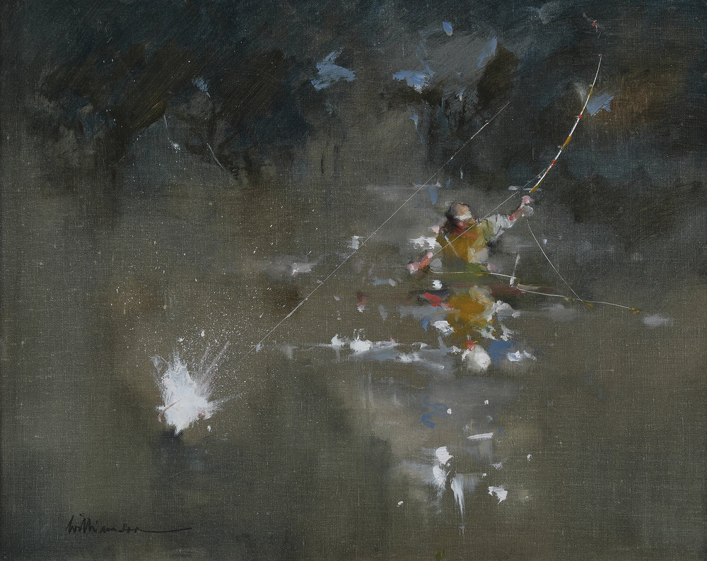 'Tip Action'    Original Oil on Canvas,  Also Available as a Limited Edition Giclee Print on Both Fine Art Paper & Canvas