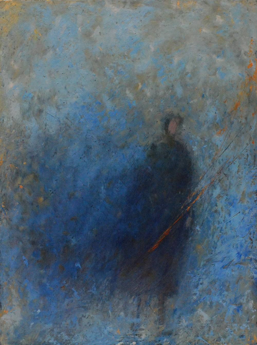 "'Outcast'    Acrylic & Mixed Media on Board, 22"" x 16"""
