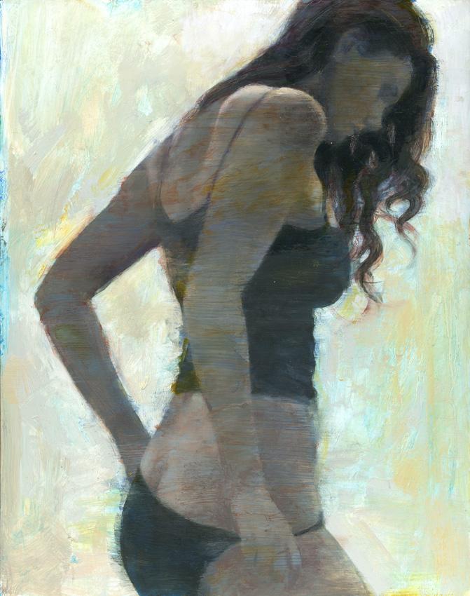 "'Blue Nail Varnish (Colour Study)'    Oil on Panel, 20"" x 16"""