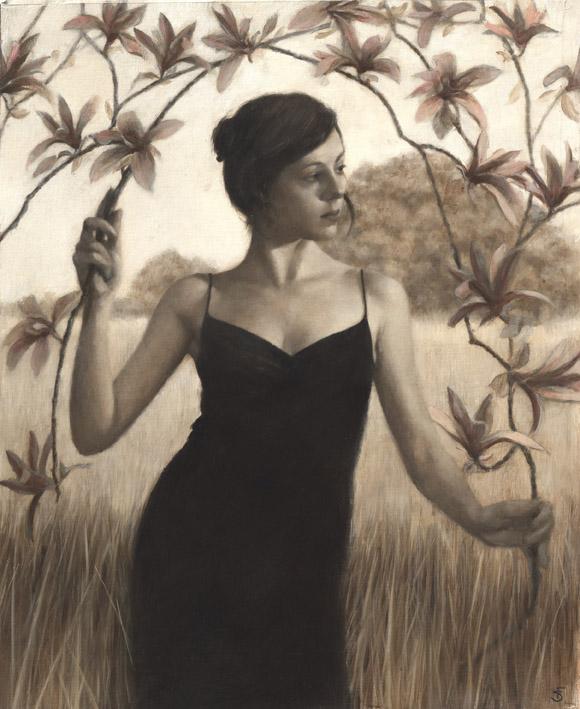 """'Magnolia II'    Oil on Canvas Panel, 29"""" x 24"""""""