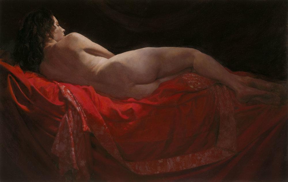 "'Zoe X'    Oil on Canvas, Mounted on Board, 29"" x 46"""