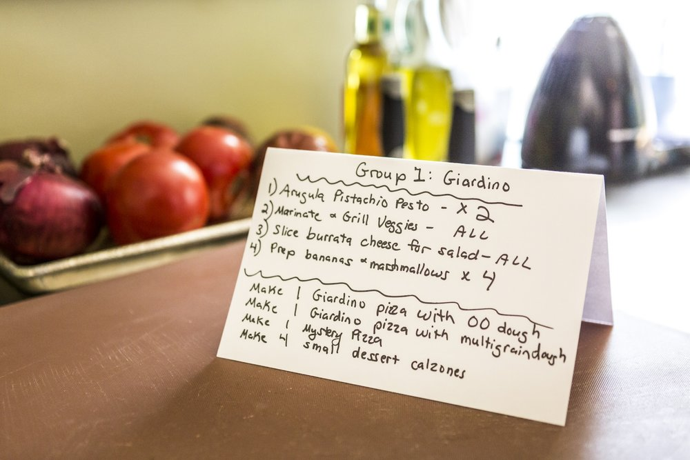 Cooking station task list!