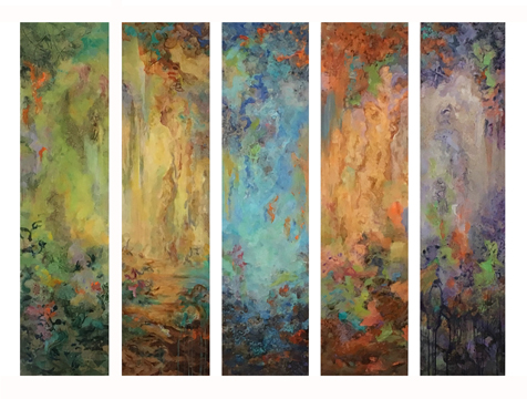 - Color Meditation Quintet (48x12) $9300
