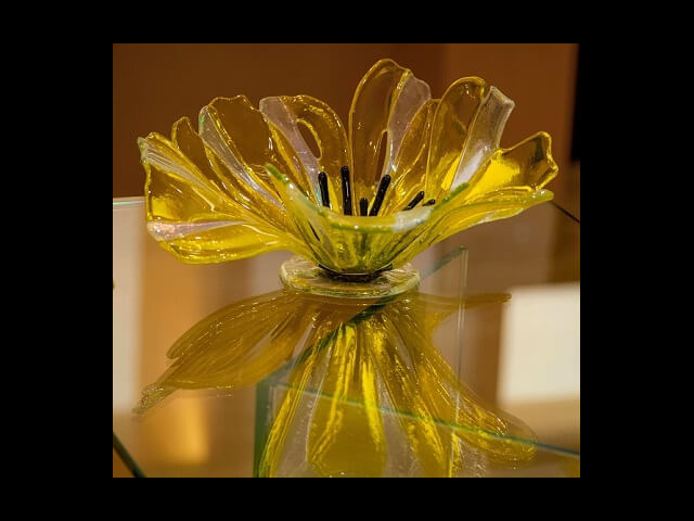 - Table Glass Poppy $275