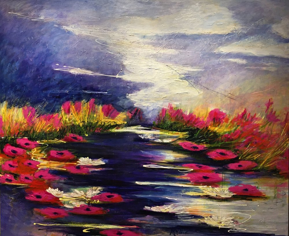 - Love Story By The Water (60x72) $14000