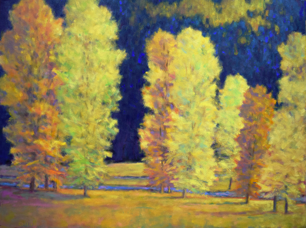 - Yellow Trees at Two Creeks (38x50) $6750