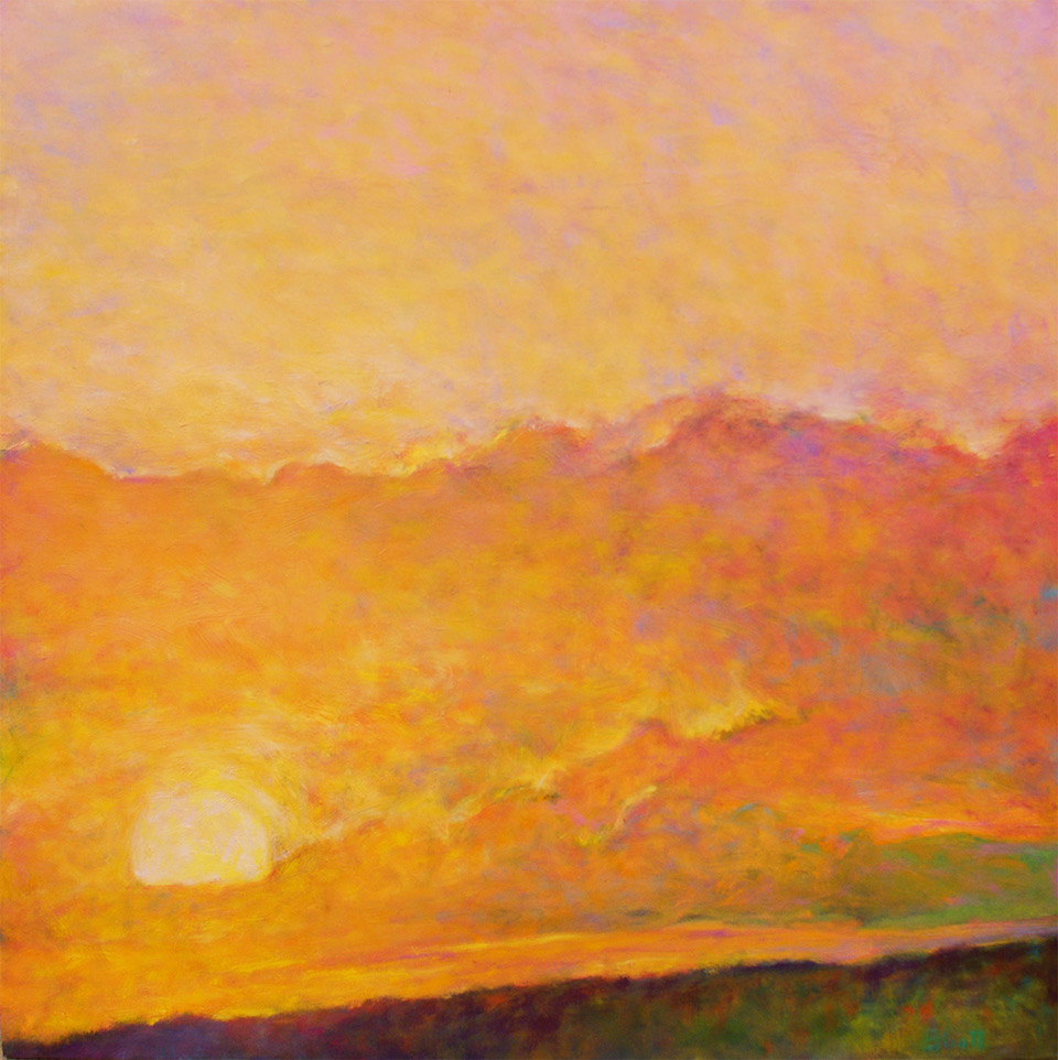 - Sunset Impression (36 x 36) $4900
