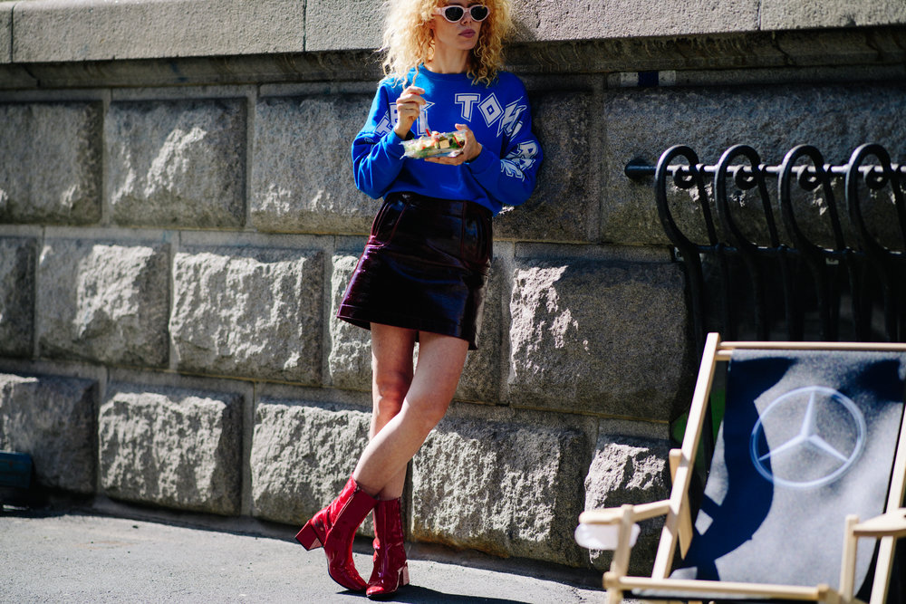 Photo by Adam Katz Sinding for W Magazine.   Wearing Gestuz, H&M, Carven, FWSS and Since