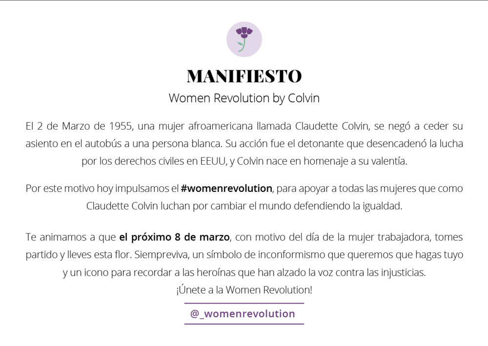 Manifiesto Women Revolution -