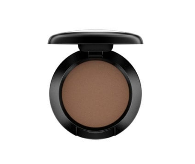 MAC Espresso- Bottom lid, except for inside corner. I apply this under my bottom lashes right before I apply mascara.