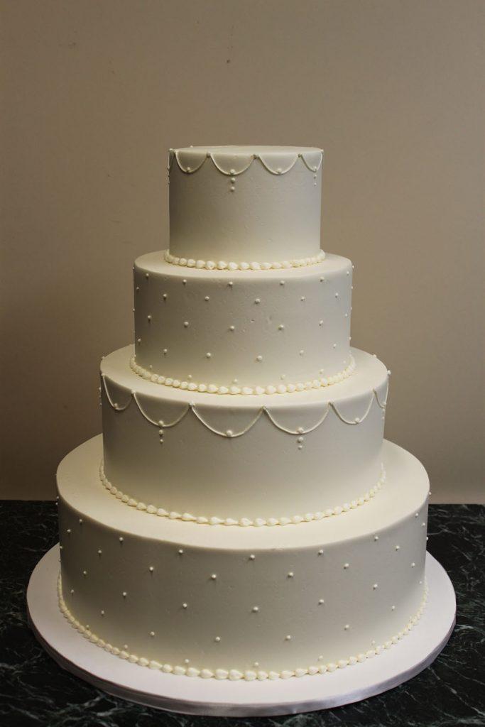 Swag & Dot Wedding Cake