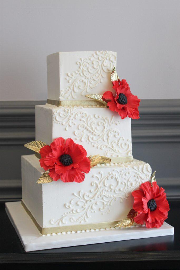 Classic Scroll Wedding Cake