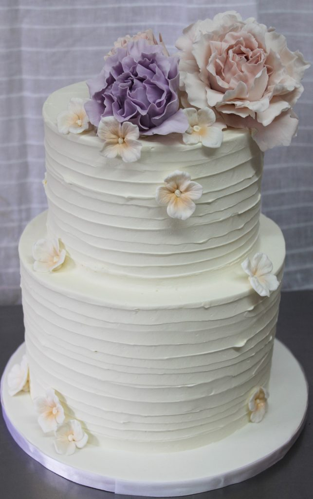 Texture with Pastel Floral Wedding Cake