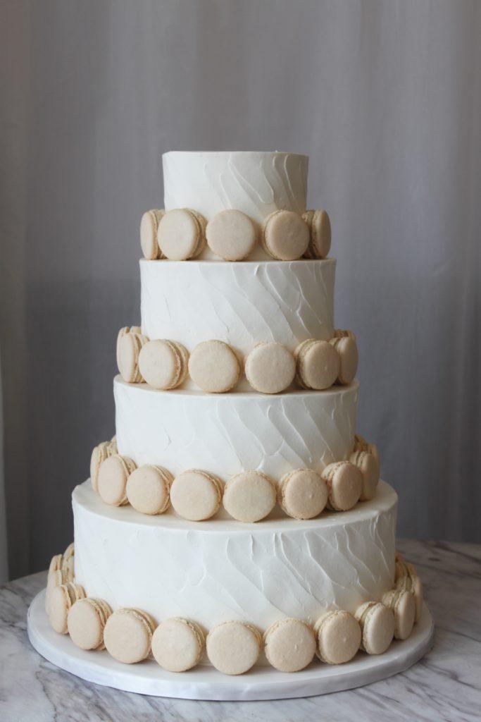 Classic Macaron Wedding Cake