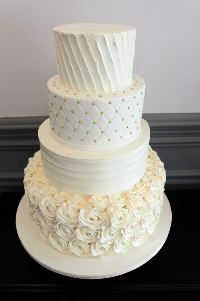 Multi-Textured Wedding Cake