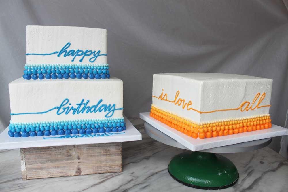 Happy Birthday Dot Cake